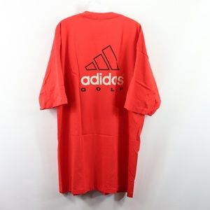 New Vintage 90s Adidas Golf Spell Out Shirt Red XL